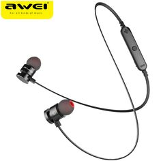 2017 Newest AWEI T11 Wireless Headphone Bluetooth Earphone Fone de ouvido For Phone Neckband Ecouteur Auriculares Bluetooth V4.2  Price: 12.54 USD