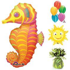 Try a sea horse theme for your summer party!  #seahorse #balloons #burtonandburton