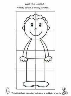 Color and make a puzzle Senses Activities, Kindergarten Activities, Preschool Activities, Preschool Printables, Preschool Crafts, Body Parts Preschool, All About Me Preschool, Halloween Activities, Toddler Crafts