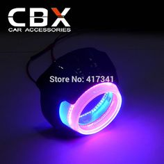 (64.60$)  Watch now - http://aig8e.worlditems.win/all/product.php?id=32602394335 - 2016 New Fashion High Quality P911 LED Angel Eye/Devil Eye/DRL Shroud Blue+Red for 3.0 Xenon Projector Lens WST Hella 3 Hella 5