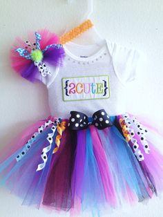 Baby Girl Tutu  Colorful Summer Tutu Set size 0 to 3  months Onesie,Tutu and headband on Etsy, $34.99