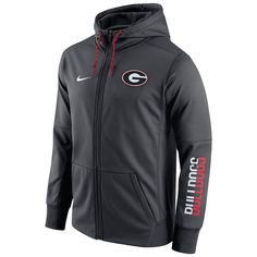 Men s Nike Georgia Bulldogs Circuit Full-Zip Performance Hoodie 4c28bc17871