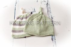 Knitting Pattern/DIY Instructions - Knot Top Baby Beanie Hat - Debbie Bliss Baby Cashmerino/5ply