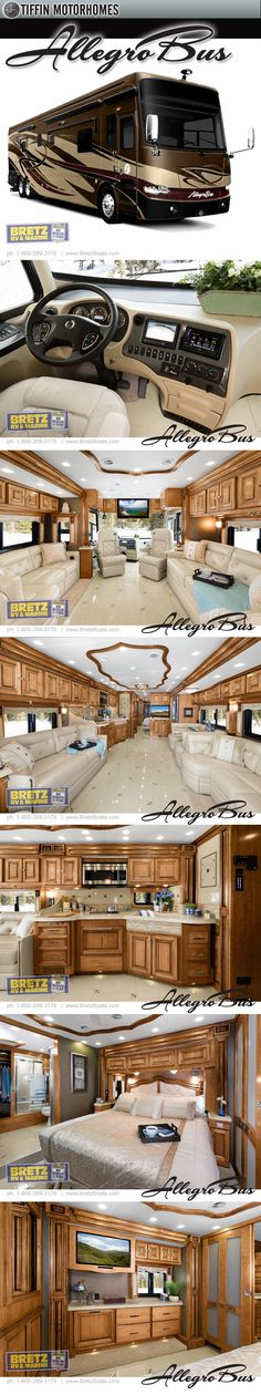 2013 Tiffin Allegro Bus Class A Diesel Pusher Motrohome with Rear Bath.