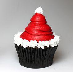 Santas hat cupcake