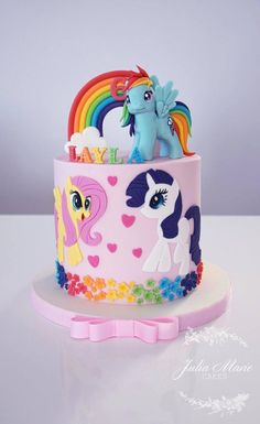 My Little Pony Cake – Julia Marie Cakes cake, Cakes, Julia, Marie, Pony Bolo My Little Pony, Cumple My Little Pony, My Little Pony Birthday Party, Birthday Cake Girls, 5th Birthday, Little Poney, Little Cakes, Themed Cakes, Party Cakes