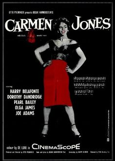 Carmen Jones POSTER Movie (11 x 17 Inches - 28cm x 44cm) (1954) (Style B) Decorative Wall Poster