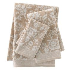 Croft and Barrow Belle Jacquard Bath Towels