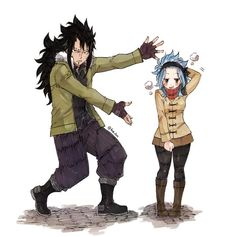Fairy Tail - Gajeel x Levy Fairy Tail Levy, Fairy Tail Ships, Rog Fairy Tail, Fairy Tail Amour, Fairy Tail Guild, Fairy Tail Anime, Fairy Tail Couples, Fairy Tail Family, Fairytail