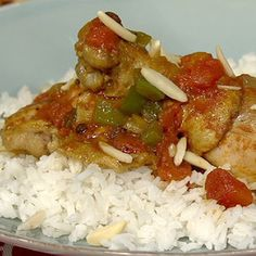 Paula Deen's Country Captain Chicken (curry and currants give this an unusual and delicious flavor)