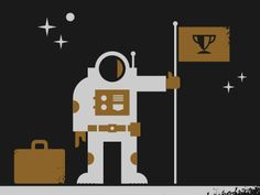 Love this simple illustrative style. Space Explorer by Roger Strunk Flat Design Poster, Interface Design, Screen Shot, Shots, Artsy, Flag, Explore, Space, Simple