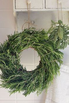 Stork's Nest Home.: Wreaths and green decorations