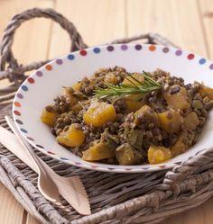 Lentilles aux poireaux, potiron et romarin - Ôdélices : Recettes de cuisine faciles et originales !