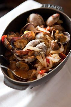 One Skillet Portuguese Pork and Clams via @Shaina Pagani Pagani Olmanson | Food for My Family