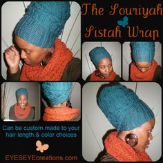 The Souriyah Sistah Wrap (How-To video link included) - crochet african head wrap - MADE TO ORDER on Etsy, $33.50 :: #dreadstop