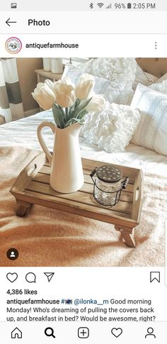 Bed Tray, Breakfast In Bed, Cover, Home Decor, Bed And Breakfast, Decoration Home, Room Decor, Home Interior Design, Home Decoration