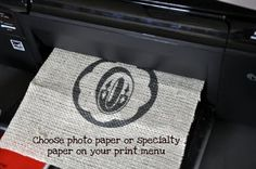 how to print on burlap - genius idea!