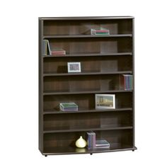 Sauder Multimedia perfect Storage Tower, Cinnamon Cherry for DVD or CD box set Dvd Storage Cabinet, Cd Dvd Storage, Dvd Shelves, Bookcase Organization, Bookshelf Storage, Storage Rack, Storage Shelves, Shelving Display, Wood Display