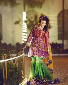 Will customise according to customer demand . Pakistani Wedding Outfits, Pakistani Wedding Dresses, Bridal Outfits, Sindhi Dress, Bridal Mehndi Dresses, Mehndi Outfit, Shadi Dresses, Indian Designer Wear, Beautiful Dresses
