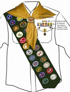 pictures of sda pathfinders honors | Pathfinders » Uniform Specifications » Front Shirt with Sash