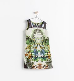 Image 1 of BOTANICAL PRINT DRESS from Zara