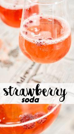 MANSIKKASOODA |  STRAWBERRY SODA    This bubbling starwberry soda tastes for everyone.   Tämä mansikkasooda maistuu jokaiselle. Katso ohje! Cantaloupe, Alcoholic Drinks, Strawberry, Fruit, Eat, Summer, Recipes, Food, Sodas