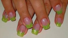 Tinkerbell green nails