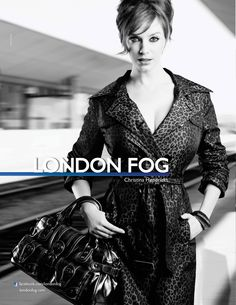 Christina Hendricks for London Fog Fall 2010 Ad Campaign