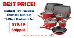 WOW! BEST PRICE EVER!! Get the Rachael Ray Porcelain Enamel II Nonstick 12-Piece Cookware Set for only $79.49 shipped!   Click the link below to get all of the details ► http://www.thecouponingcouple.com/best-price-ever-rachael-ray-porcelain-enamel-ii-nonstick-12-piece-cookware-set-79-49/ #Coupons #Couponing #CouponCommunity  Visit us at http://www.thecouponingcouple.com for more great posts!