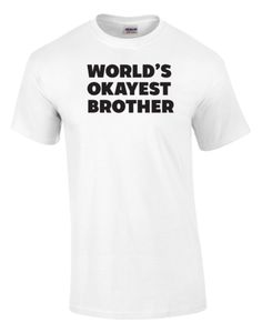 World's Okayest Brother Printed Tee