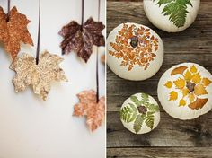 Feuilles paillettes guirlande DIY automne feuilles