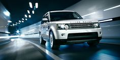 Range Rover Sport: Front view driving in tunnel at night