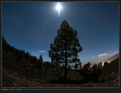 Astrophotographer Erwin Matys sent in a photo of a moonlit landscape of La Palma, Canary Islands, Spain, taken March 9, 2014.