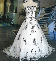 Black and white wedding dresses - Google Search