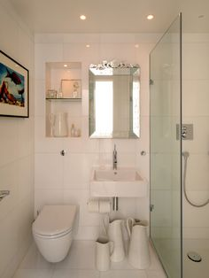 Creative Designs, Enchanting Small Bathroom Makeover Ideas With Ceramic Flooring And Glass Door Also Stainless Steel Faucet: Splendid Small Bathroom Makeover Ideas For Contemporary Minimalist House