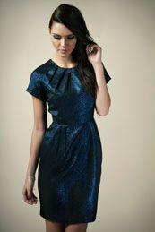 Boutique Fay Metallic Snake Brocaide Dress