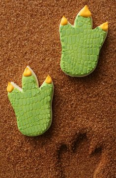 Dinosaur Foot Cookies~         By SweetSugarbelle, green