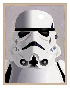Star Wars Stormtrooper  Print - 8x10 print - Star Wars character print. $12.50, via Etsy.