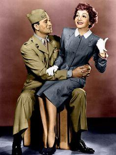 John Wayne & Claudette Colbert