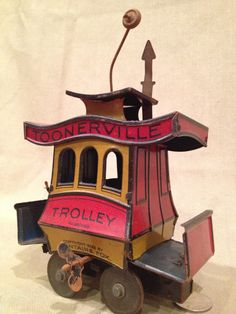 1922 Toonerville Trolley Litho Tin WindUp by TrashAngelTreasures, $150.00