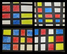 Children respond to the art of Piet Mondrian