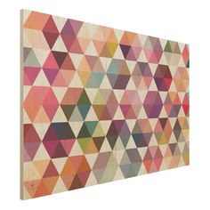 Wandbild Holz - Hexagon Facetten - Quer 2:3