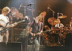 Original photo of Bobby Weir, Phil Lesh and Mickey Hart from The Grateful Dead. 3.5 x 5 inches. Full color glossy.