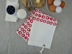 dishtowel - hand-screen printed linen