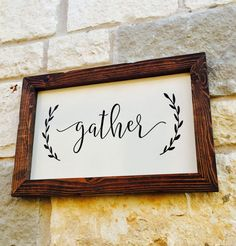 Gather Sign Gather Wooden Sign Dining Room Decor Fixer upper - farmhouse - wall art #ad #etsy