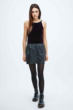 Pins & Needles Velvet Crop Top - Urban Outfitters | £22
