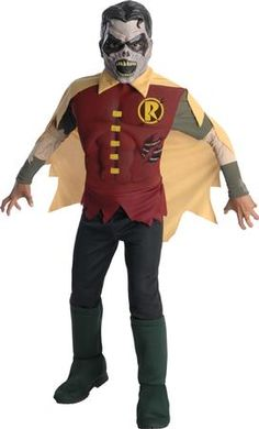 deluxe zombie robin boys costume