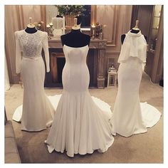 Spotlight on Sassi Holford ✨ these 3 incredible dresses are from the Twenty17 collection!  Left - Honor • Centre - Astrid • Right - Savannah. Which would you choose?