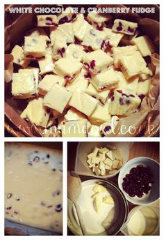 Mama OWL: {Christmas Bucket List} Edible Gifts for Teachers - White Chocolate & Cranberry Fudge