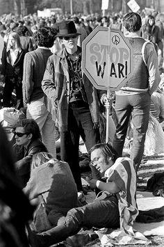 Peaceful protest of Vietnam Nam War, Boston, April 1970